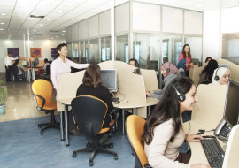 appel telemarketing en call center
